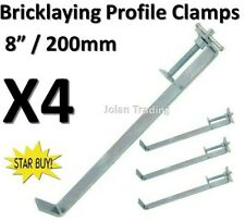 "4 x 200mm 8"" Profile Clamps Brick Laying Bricklaying Walls Plumb Screw 5154"