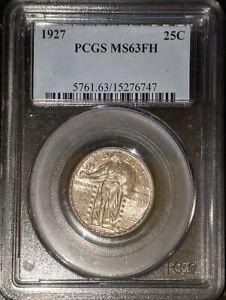 1927 25C Standing Liberty Quarter PCGS MS63FH