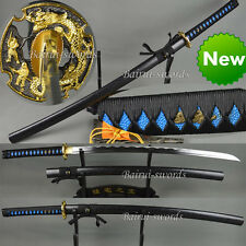 Handmade 1060 steel KATANA  Full Tang Sharp Blade Dragon Japanese Samurai Sword