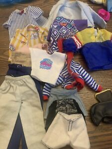 Vintage 1990s Ken Doll Huge Clothing Lot Pants Shorts Shirts Barbie Retro