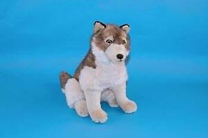 Sitting Wolf Plush Toy 40cm