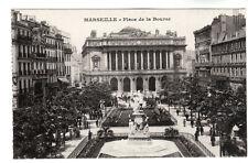 More details for place de la bourse - marseille photo postcard c1910