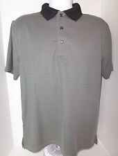 Men's Grandslam Golf Short Sleeved Stripe Polyester Shirt size-M