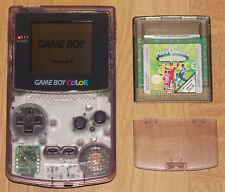 Nintendo Gameboy Game Boy Color Transparent + Power Rangers Time Force 100% OK