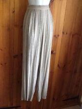 Linen Blend High Rise Regular Size Trousers for Women