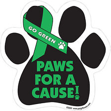 Dog Magnetic Paw Car Decal - Go Green - Paws For A Cause - Made In Usa