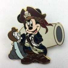 Disney Pirates of the Caribbean Lanyard Mickey Mouse Cannon Pin