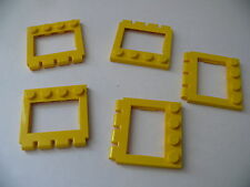 Lego 5 sunroofs yellow set 6490 6645 6561 6667/5 yellow car roof hinge