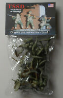 1:32 WWII US Infantry GIs Set #3 Plastic Toy San Diego Figures