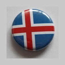 Island Button/badge drapeau flag Iceland islandais pour chevaux