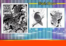 Tigers Hawks Snakes Horimouja Jack Mosher Japanese style tattoo Flash book 11''