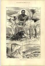 1877 Map Kaffir War District Brothers Goss Shot Engraving