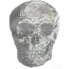 Wholesale Real Skull Rhinestone Iron on Transfer Hot fix Motif New Design