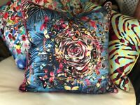 DESIGNERS GUILD CHRISTIAN LACROIX MALACHITE  OCEAN CUSHION COVER 60x60cm