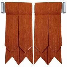WM Scottish Highland Kilt Hose Socks Flashes Irish Saffron Tartan Garter Pointed