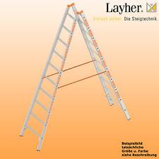 Layher Alu Sprossenstehleiter,2x10 Spr., L=2,95m, Bockleiter Topic Typ 1039.010