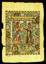 Rare Authentic Hand Painted Ancient Egyptian Papyrus-The Wedding Card