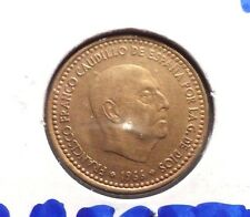 CIRCULATED 1966 UNA PESETA SPANISH COIN!! (62815)