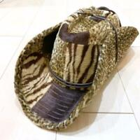 HIDE WEAVE TOSHI TEN GALLON HAT COLLECTIBLE RARE UNWORN ANIMAL PATCHWORK F/S