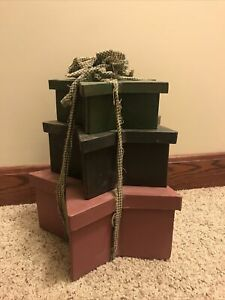 Country Star Stacked Boxes Set Of 3