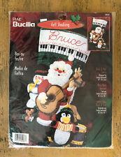 Bucilla Rock And Roll Santa Stocking Kit Felt Sequin 84587 18 Inches