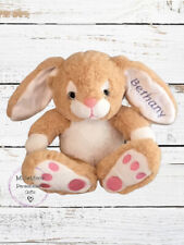 Personalised Embroidered Bunny Rabbit Easter Gift Soft Toy Teddy Bear Boy Girl