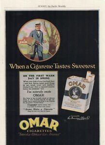 1920 Omar tobacco cigarette ad from Sunset Magazine - Very rare