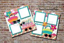 Little Diva Girl Pink Blue 2 PRINTED Premade Scrapbook Pages BLJgraves 21