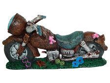 Burbuja de aire motocicleta Ornamento de acuario peces tanque decoración