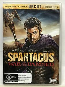 Spartacus - War of the Damned - Uncut - DVD - AusPost with Tracking