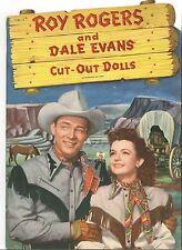 Vintage Uncut 1940S Roy Rogers Evans Paper Dolls ~Whitman~Org Sz~Laser Reproduct