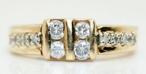 Women's Comfort-fit 14K Yellow Gold .30 Ct TW Round Diamond Ring Size 5 3/4