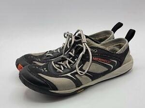 Merrell Dash Glove Vibram Running Shoe Sneaker Womens US 9 J88990 Black Gray