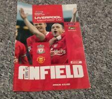 214) Liverpool V Man Utd programma Premiership 9-11-2003