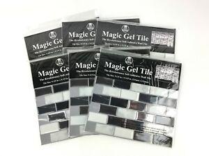 """(6-Pack) Magic Gel Tile Self Adhesive Vinyl Wall Tiles """"Onyx Marble"""" 9"""" x 9"""""""