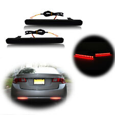 For 2009-14 Acura TSX Black Lens Rear Bumper Reflector Foglight Tail Brake Lamps