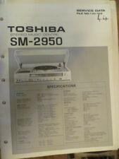 Toshiba SM-2950 Stereo Music Centre  ORIGINAL  Service Manual