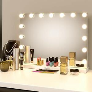 Hollywood 15 LEDs Make up Spiegel Beleuchtung Kosmetikspiegel Schminkspiegel