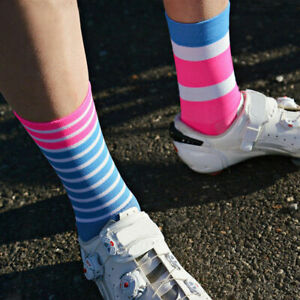 "NEW Duo Stripe Pro Sock Sport Running Cycling Casual Bike Guy 6"" Cuff Triathlon"