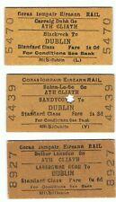 Railway Tickets Ireland, 3 No.CI E, Blackrock, Landsdown Rd, Sandycove to Dublin