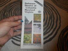 Vintage Map 1982 Delaware Districk of Columbia Maryland Virginia