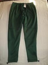 NWT HOLLISTER Men Utility Green Neoprene Fleece Lined Jogger Pants Bottom Size S