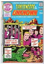 Super DC Giant #25 Featuring Challengers of the Unknown, Very Fine Condition!