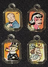 1950's - GUM BALL - VENDING MACHINE - CHARACTER - TOY CHARMS (4) - ORIGINAL