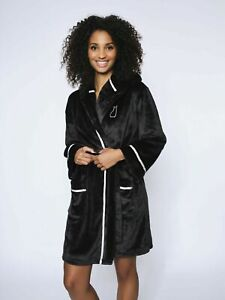 Ann Summers Bunny Robe/Dressing Gown Black Size Xtra Small 6/8
