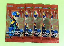 5 Packs of ROCKMAN EXE 4 Kaizou Card e + Part 2 GBA ( Plus ) JAPAN NEW