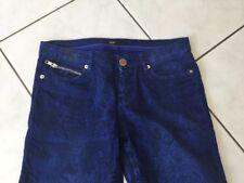 Pantalon jean MAJE taille 38 bleu façon Serpent