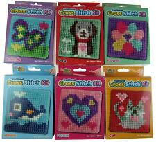 Set Of 6 Traditional Child's First Cross Stitch Kits