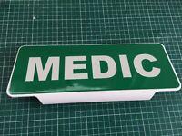MEDIC White Text univisor Sign Sun visor Safe Response Ambulance