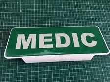 MEDIC Reflective Silver Text univisor Sign Sun visor Safe Response